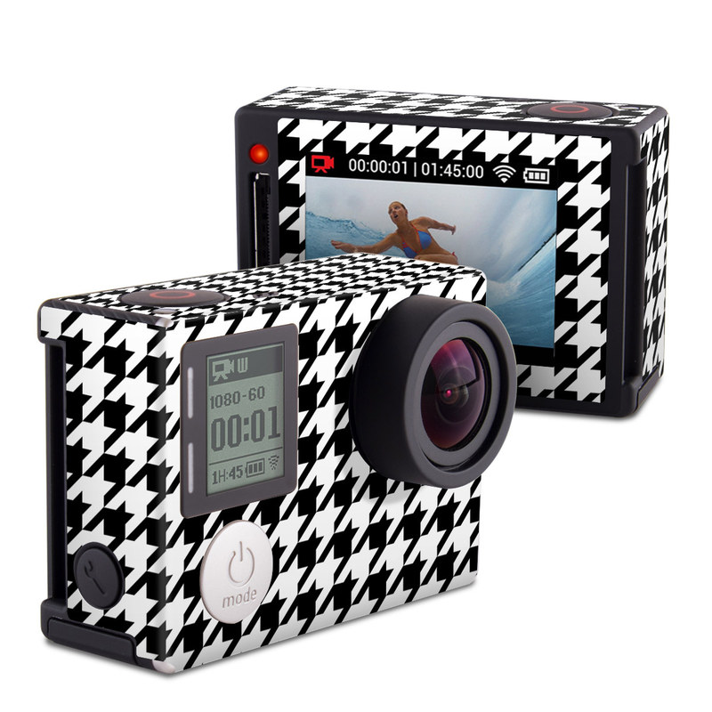 GoPro Hero4 Silver Edition Skin design of Pattern, Black-and-white, Line, Monochrome, Design, Monochrome photography, Textile, Parallel, Style with black, white, gray colors
