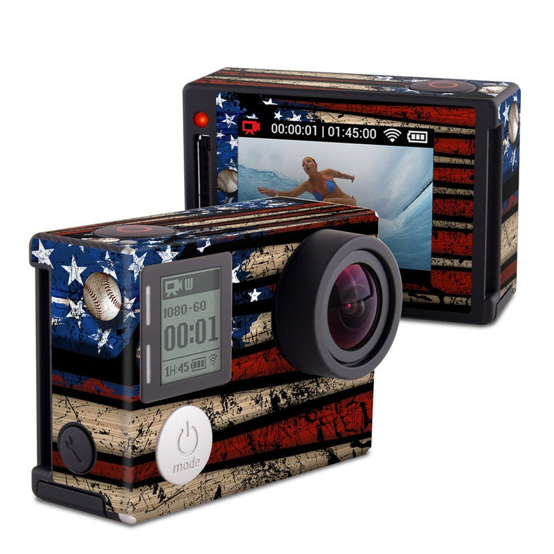Old Glory GoPro Hero4 Silver Edition Skin