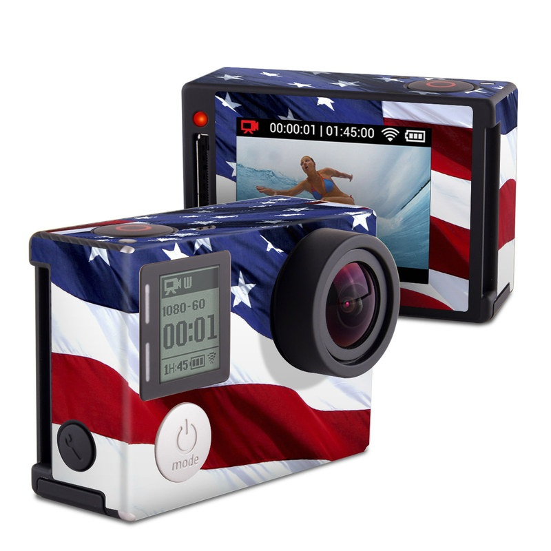 Patriotic GoPro Hero4 Silver Edition Skin