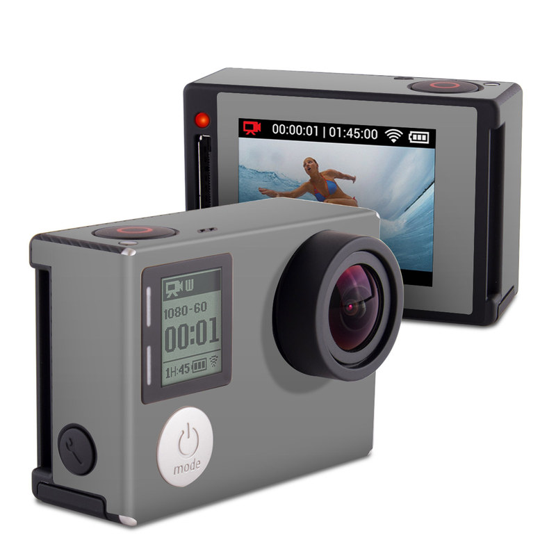 Solid State Grey GoPro Hero4 Silver Edition Skin