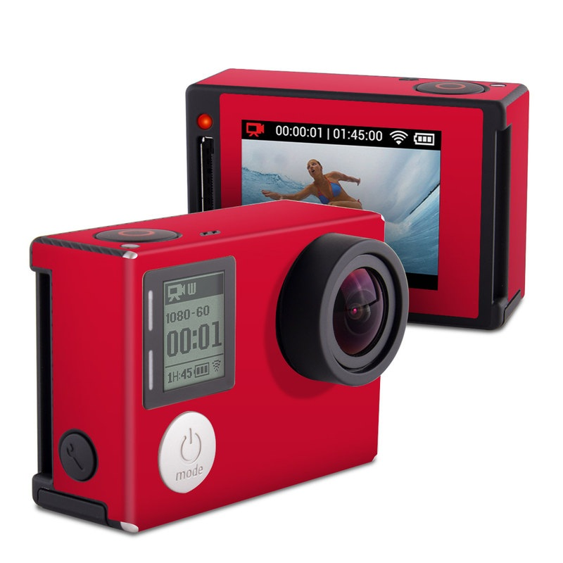 Solid State Red GoPro Hero4 Silver Edition Skin