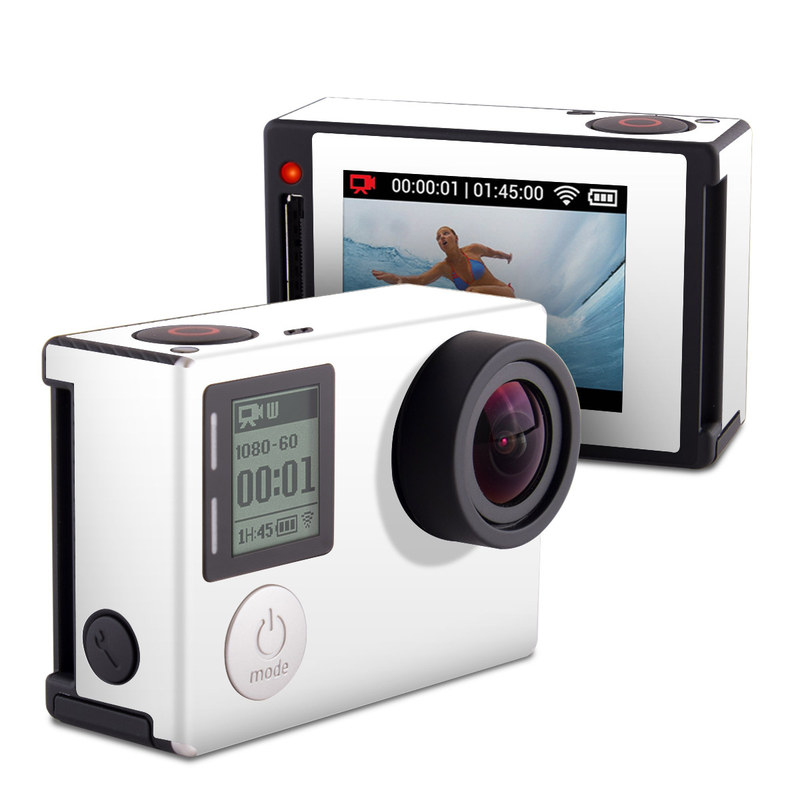 Solid State White GoPro Hero4 Silver Edition Skin