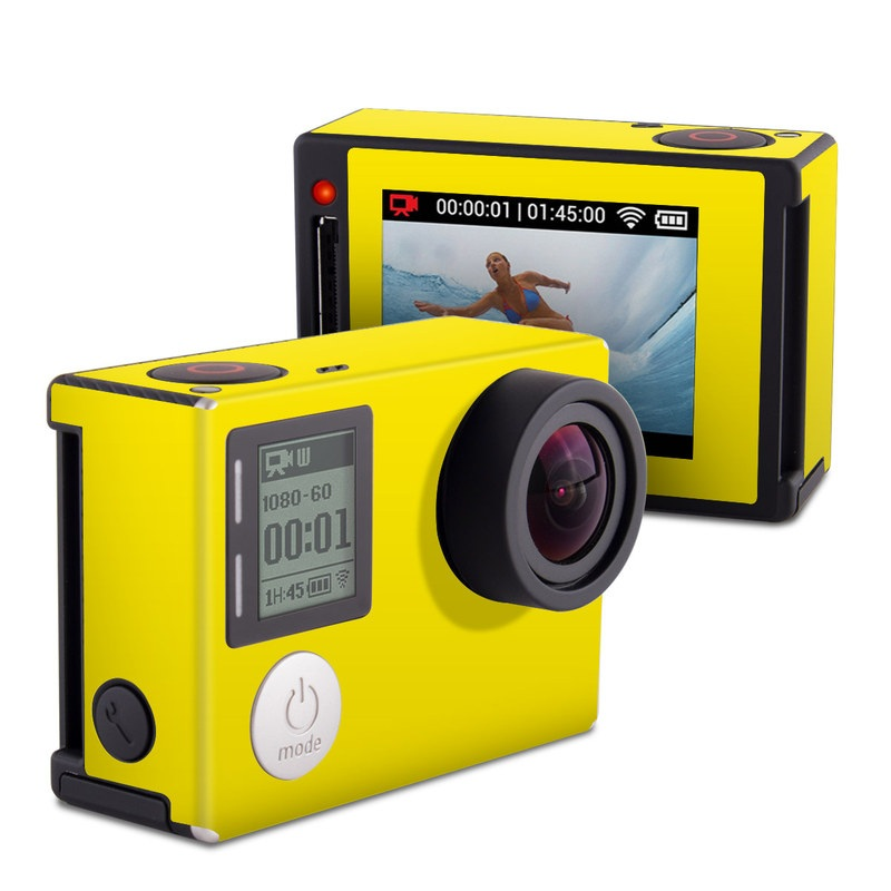 Solid State Yellow GoPro Hero4 Silver Edition Skin
