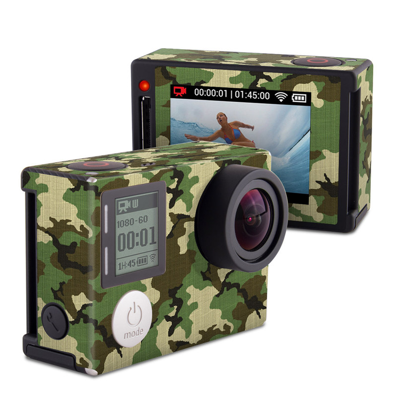 Woodland Camo GoPro Hero4 Silver Edition Skin