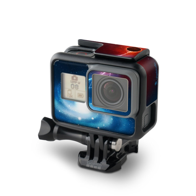 GoPro Hero5 Black Skin design of Outer space, Atmosphere, Astronomical object, Universe, Space, Sky, Planet, Astronomy, Celestial event, Galaxy with blue, red, black colors