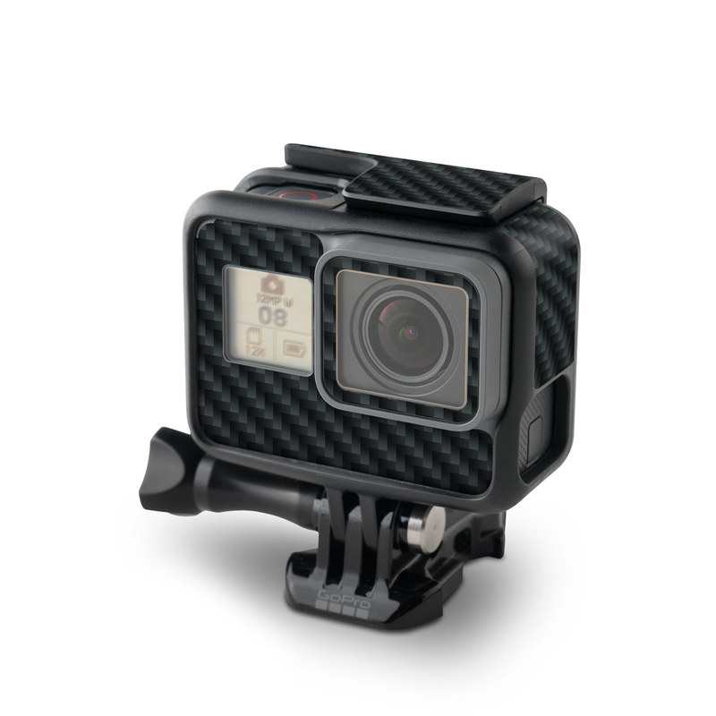 GoPro Hero5 Black Skin design of Green, Black, Blue, Pattern, Turquoise, Carbon, Textile, Metal, Mesh, Woven fabric with black colors