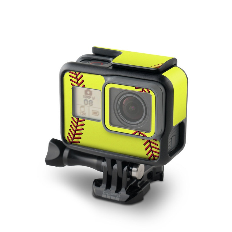GoPro Hero5 Black Skin design of Yellow, Line, Parallel with green, red, black colors
