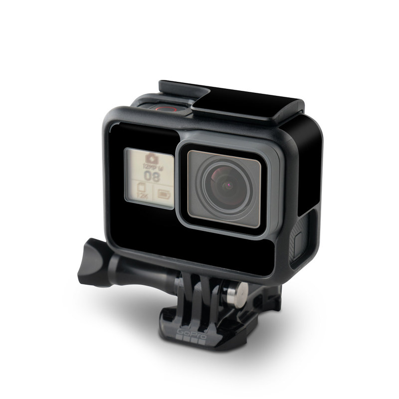 GoPro Hero5 Black Skin design of Black, Darkness, White, Sky, Light, Red, Text, Brown, Font, Atmosphere with black colors
