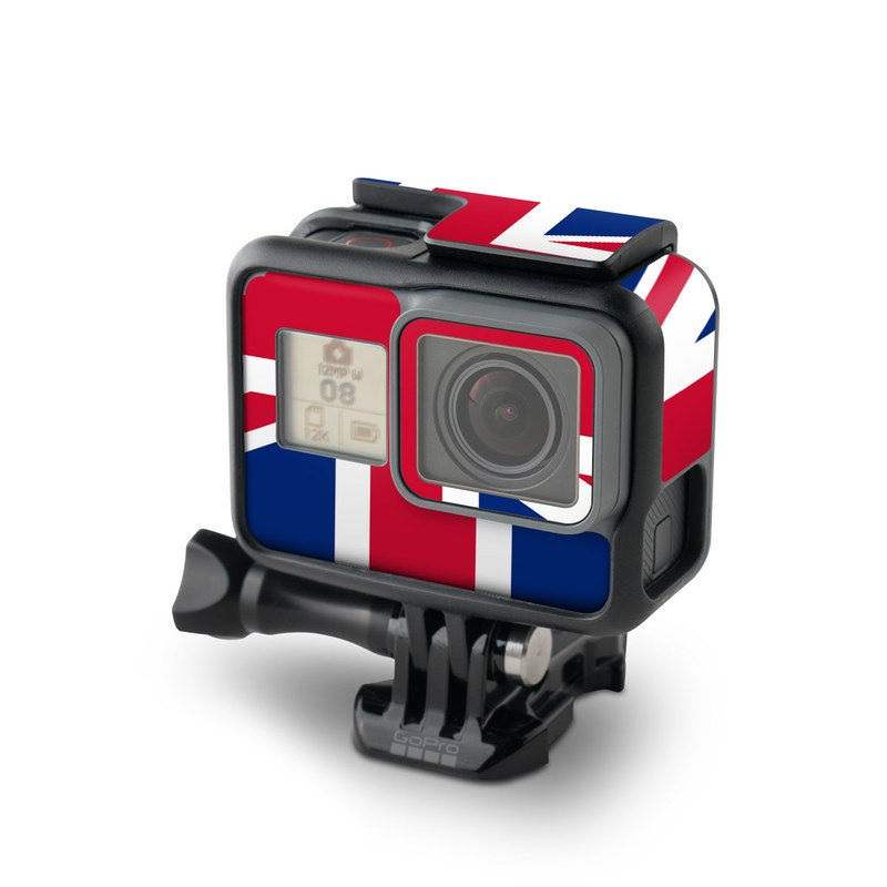 GoPro Hero5 Black Skin design of Flag, Red, Line, Electric blue, Design, Font, Pattern, Parallel, Flag Day (USA) with red, white, blue colors