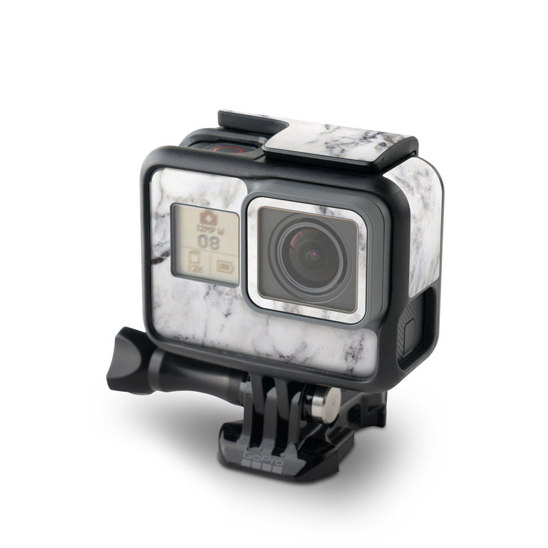 GoPro Hero5 Black Skin design of White, Geological phenomenon, Marble, Black-and-white, Freezing with white, black, gray colors