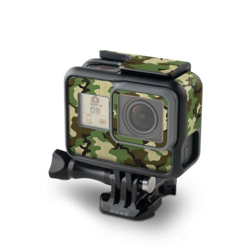 Woodland Camo GoPro Hero6 Black Skin