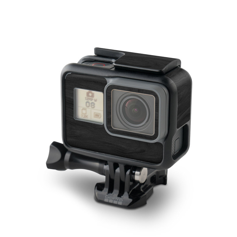 Black Woodgrain GoPro Hero6 Black Skin