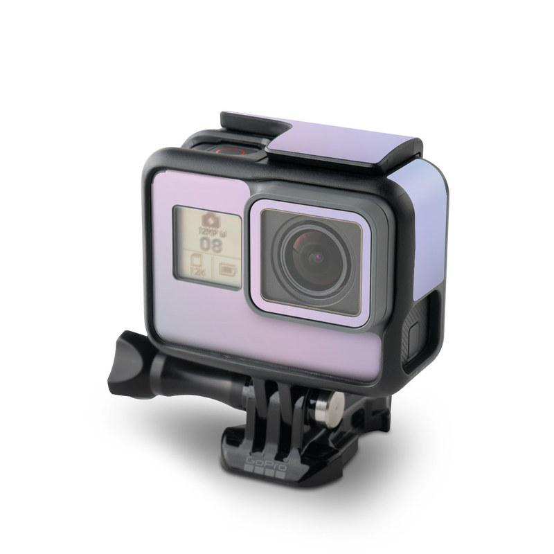 GoPro Hero6 Black Skin design of White, Blue, Daytime, Sky, Atmospheric phenomenon, Atmosphere, Calm, Line, Haze, Fog with pink, purple, blue colors