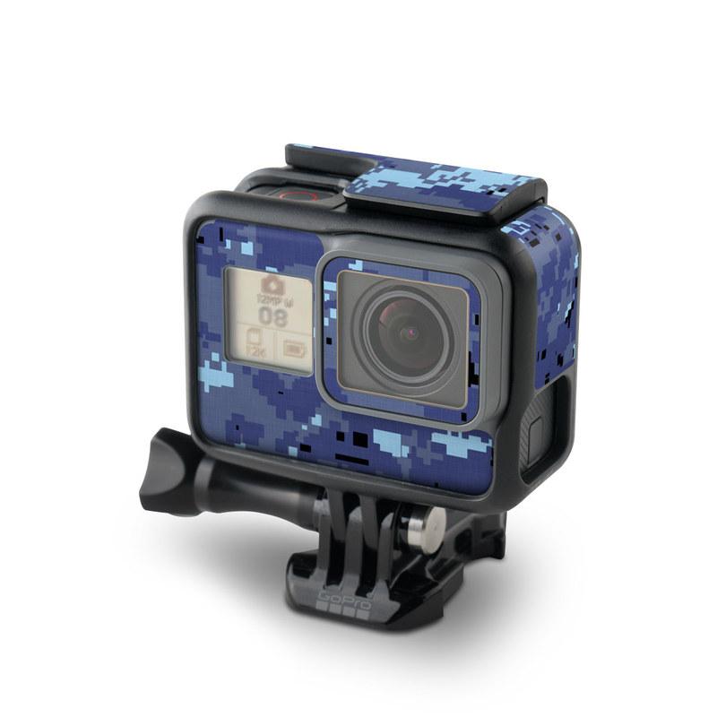 GoPro Hero6 Black Skin design of Blue, Purple, Pattern, Lavender, Violet, Design with blue, gray, black colors