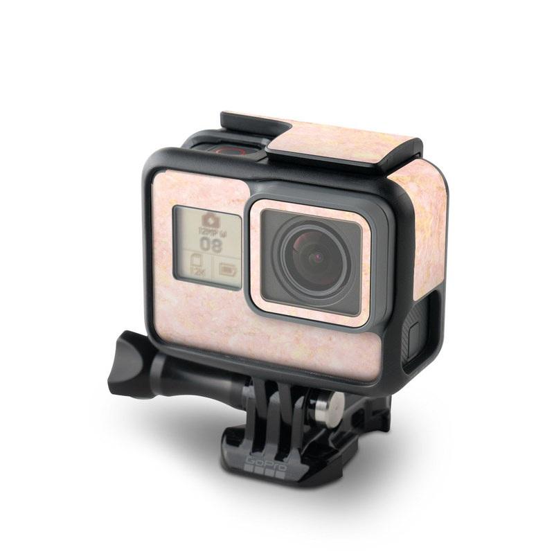 GoPro Hero6 Black Skin design of Pink, Peach, Wallpaper, Pattern with pink, yellow, orange colors