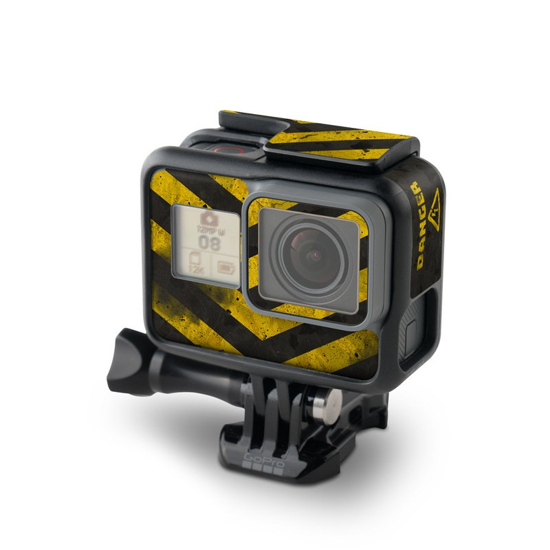 GoPro Hero7 Black Skin design with black, yellow, gray colors