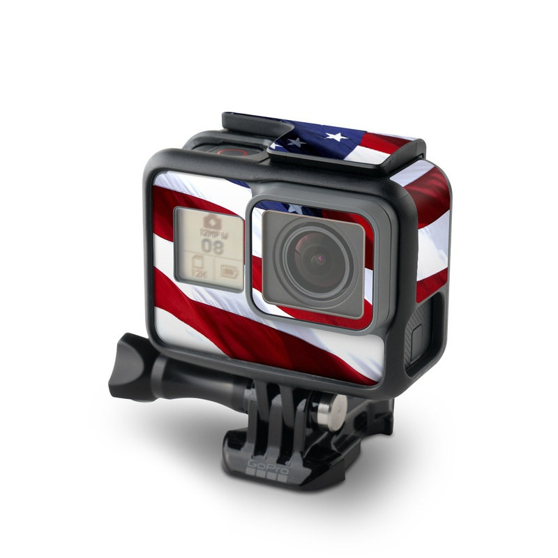 GoPro Hero7 Black Skin design of Flag, Flag of the united states, Flag Day (USA), Veterans day, Memorial day, Holiday, Independence day, Event with red, blue, white colors