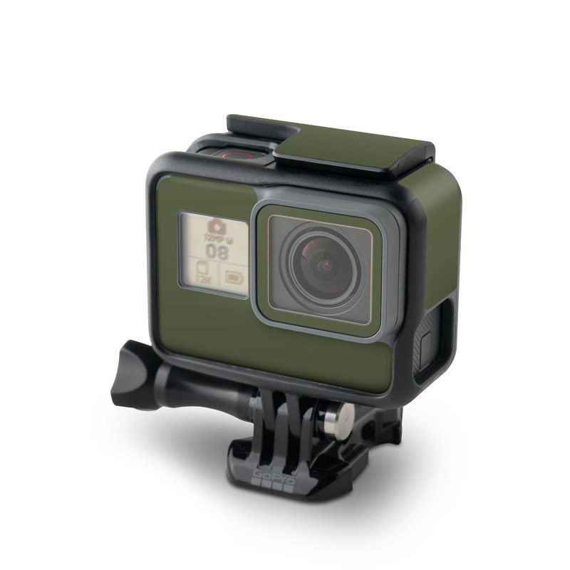GoPro Hero7 Black Skin design of Green, Brown, Text, Yellow, Grass, Font, Pattern, Beige with green colors
