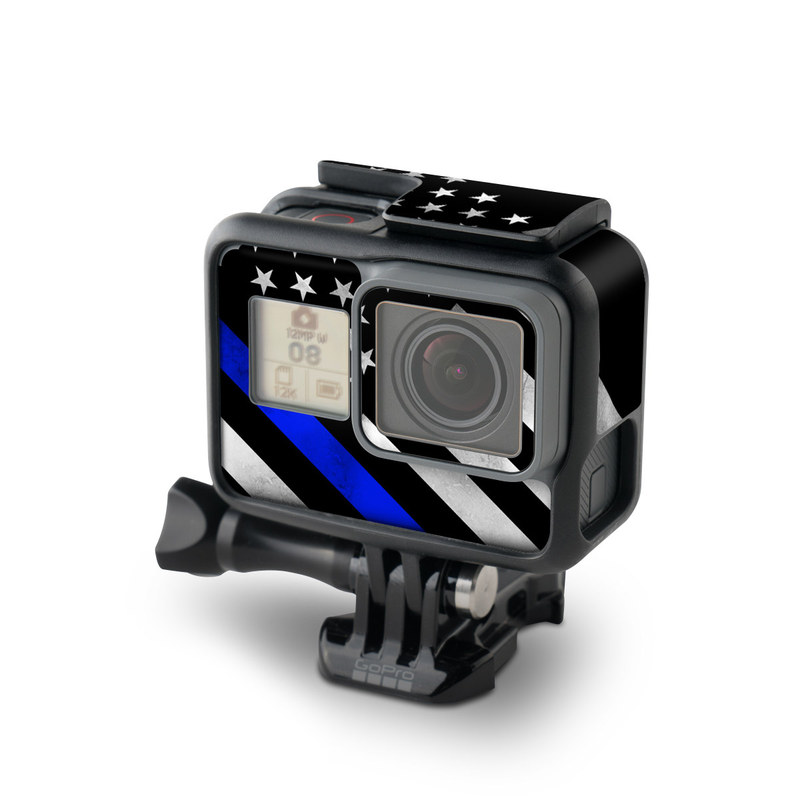 GoPro Hero7 Black Skin design of Flag of the united states, Flag, Cobalt blue, Pattern, Line, Black-and-white, Design, Monochrome, Electric blue, Parallel with black, white, gray, blue colors
