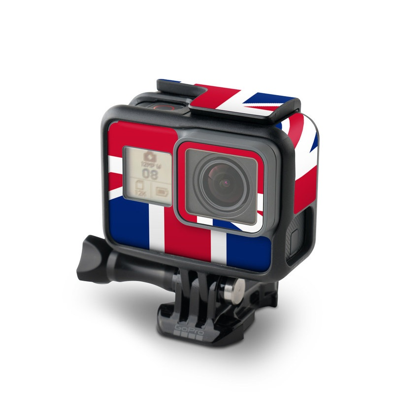GoPro Hero7 Black Skin design of Flag, Red, Line, Electric blue, Design, Font, Pattern, Parallel, Flag Day (USA) with red, white, blue colors
