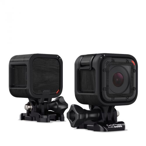 Black Woodgrain GoPro Hero4 Session Skin
