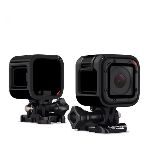 Solid State Black GoPro Hero4 Session Skin
