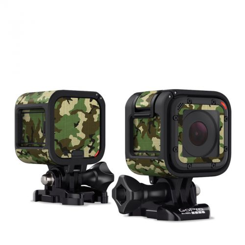 Woodland Camo GoPro Hero4 Session Skin