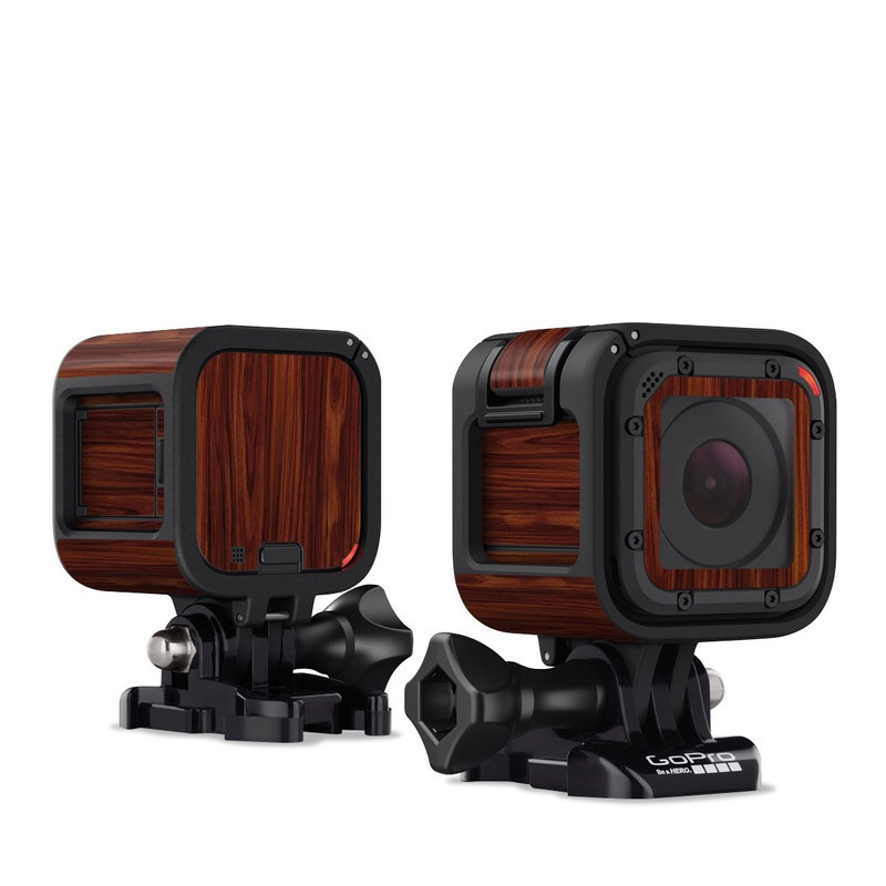 Dark Rosewood GoPro Hero4 Session Skin