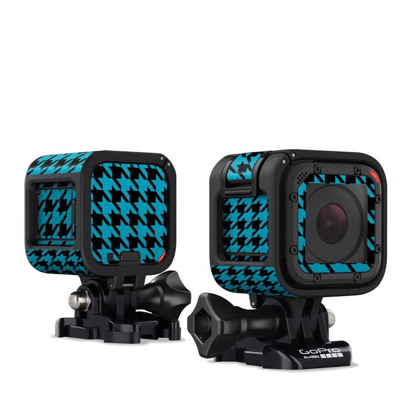 Teal Houndstooth GoPro Hero4 Session Skin