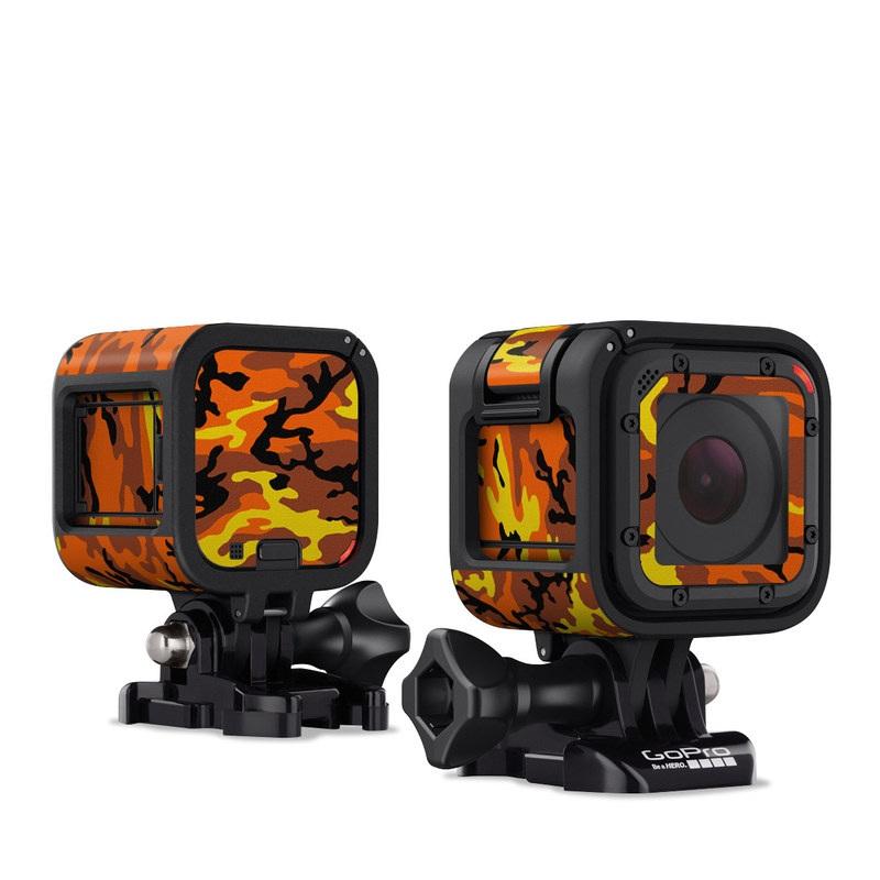 Orange Camo GoPro Hero4 Session Skin