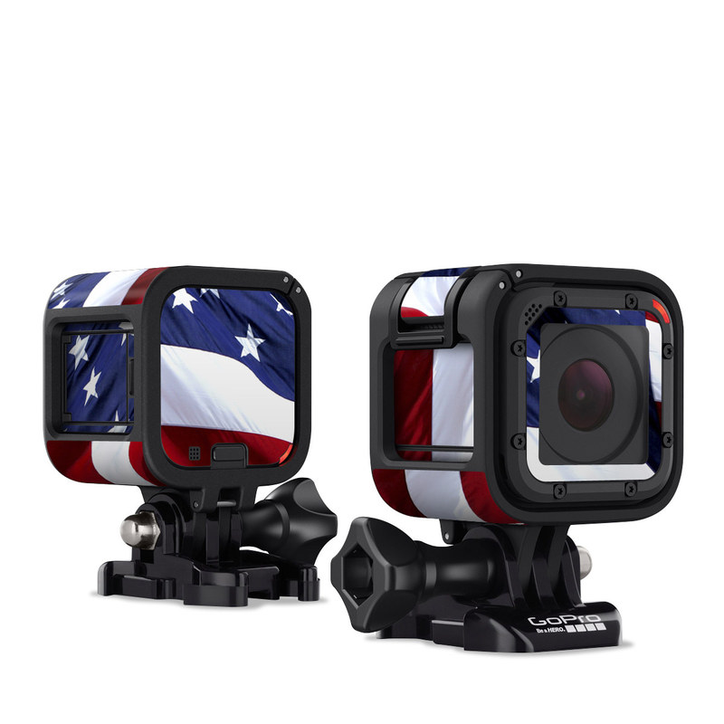 GoPro Hero4 Session Skin design of Flag, Flag of the united states, Flag Day (USA), Veterans day, Memorial day, Holiday, Independence day, Event with red, blue, white colors