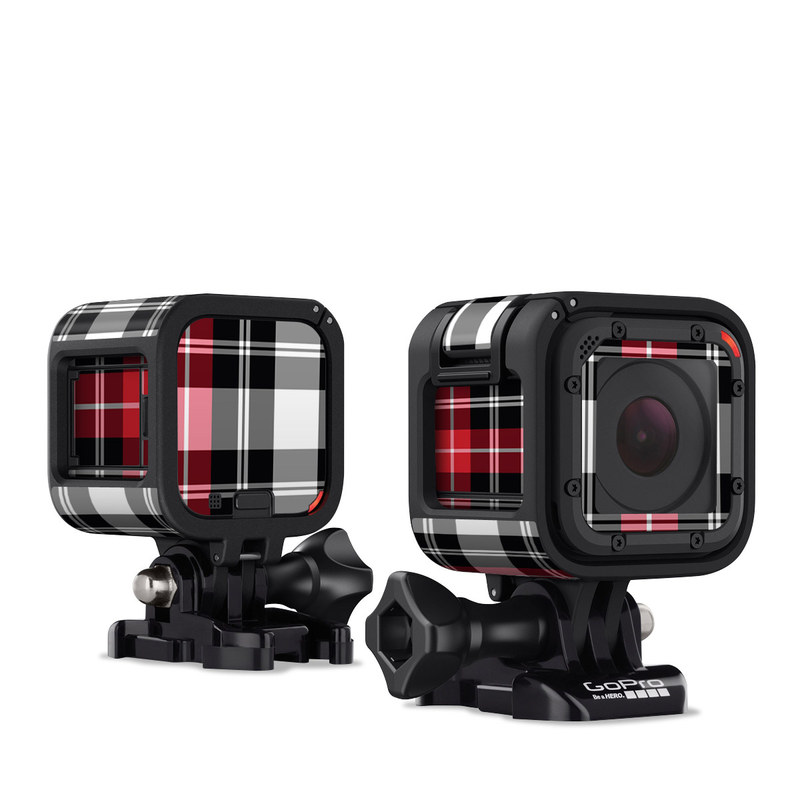 Red Plaid GoPro Hero4 Session Skin