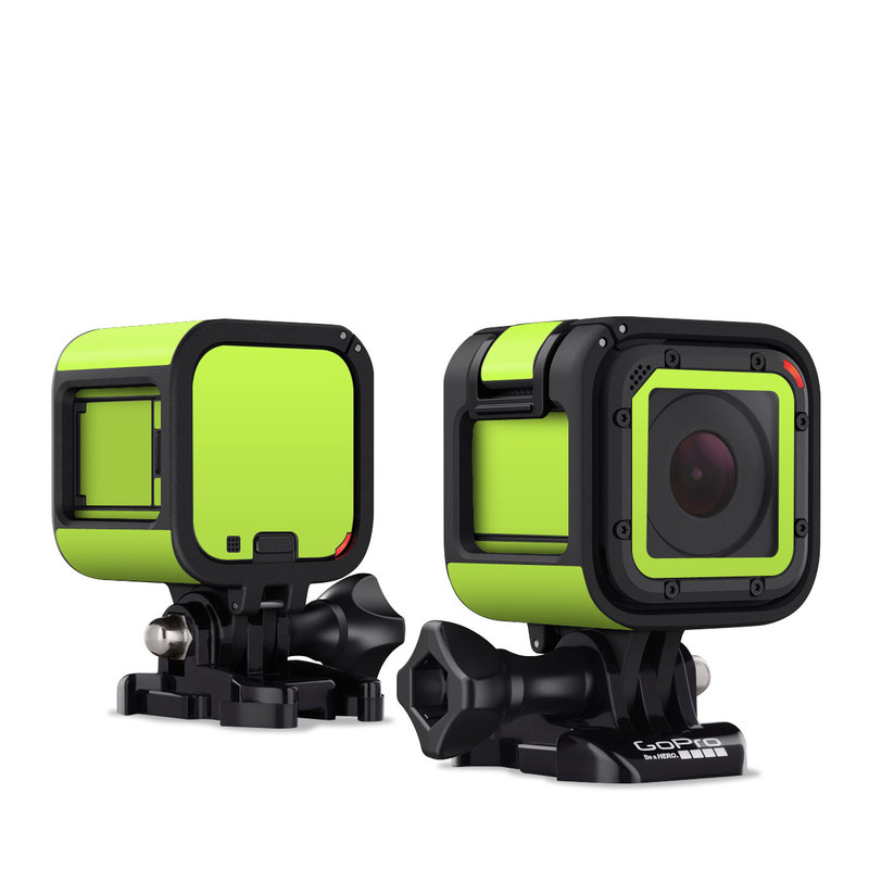 GoPro Hero4 Session Skin design of Green, Yellow, Text, Leaf, Font, Grass with green colors