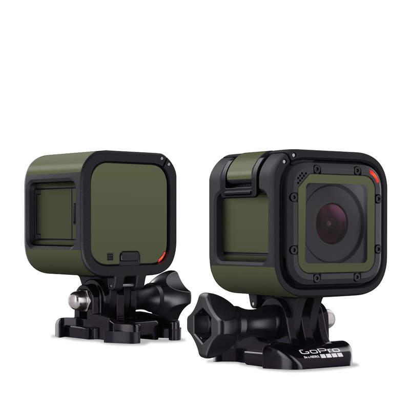 Solid State Olive Drab GoPro Hero4 Session Skin