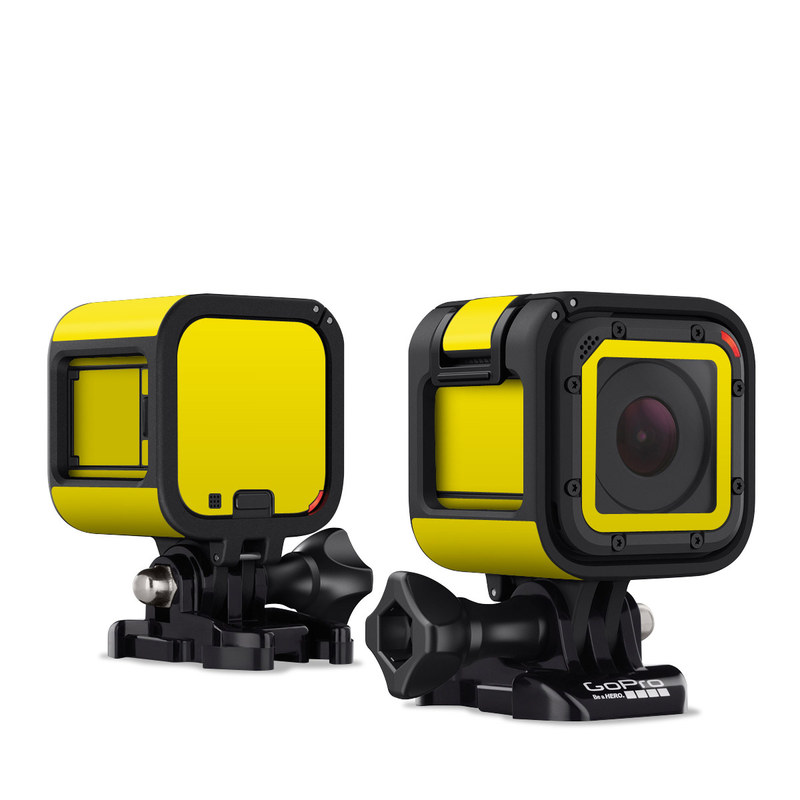 Solid State Yellow GoPro Hero4 Session Skin