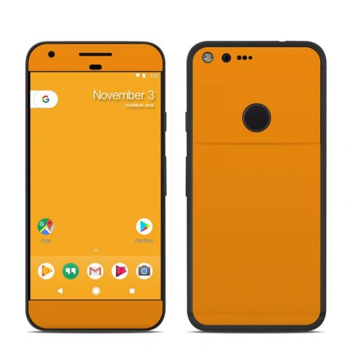Solid State Orange Google Pixel Skin