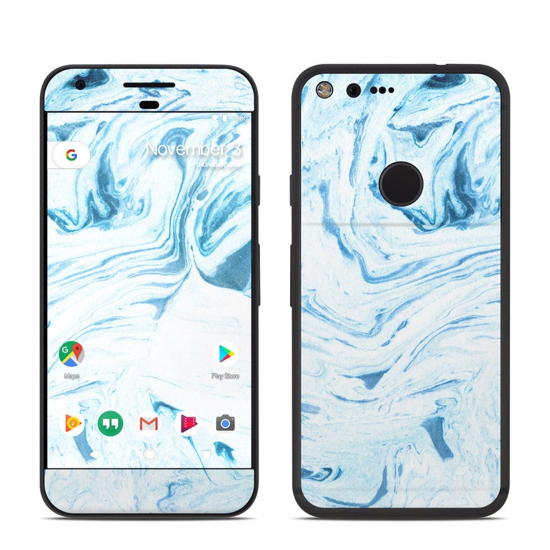 Google Pixel Skin design of Water, Aqua, Wind wave, Drawing, Painting, Wave, Pattern, Art with blue colors