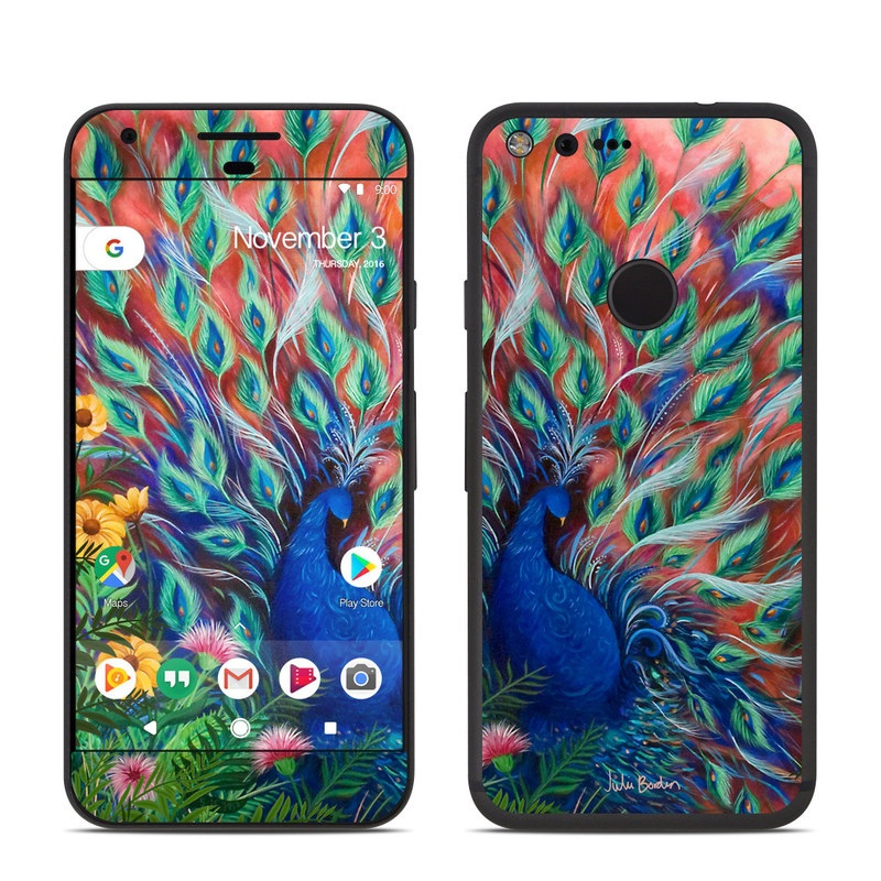 Coral Peacock Google Pixel Skin