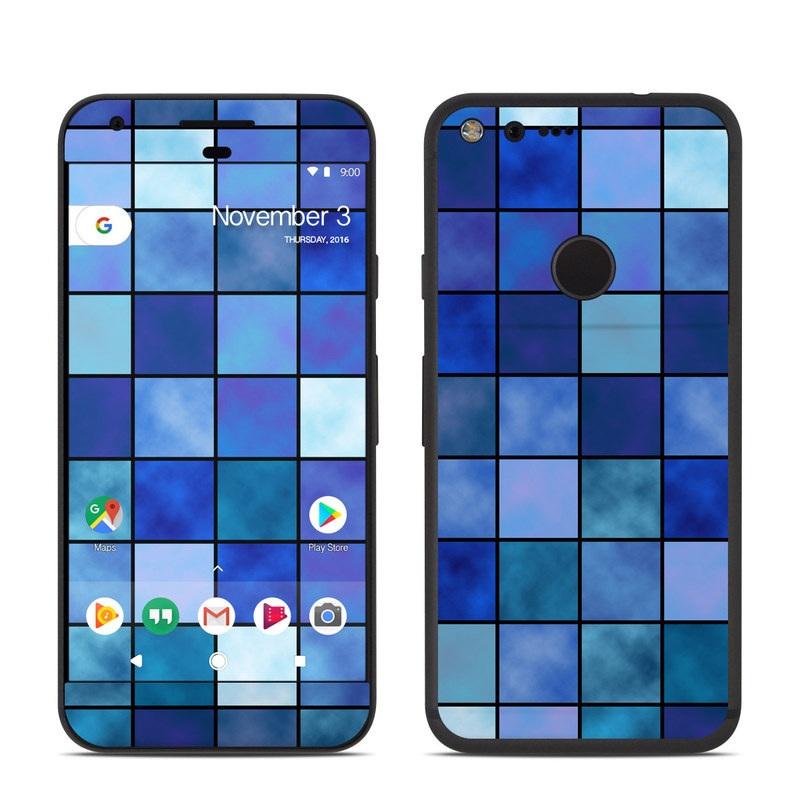 Blue Mosaic Google Pixel Skin