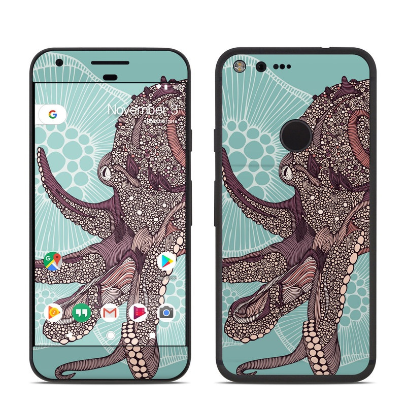 Google Pixel Skin design of Illustration, Art, Elephants and Mammoths, Pattern, Graphic design with gray, black, red, green colors