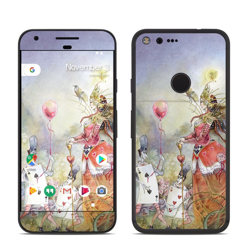 Google Pixel Skin design of Watercolor paint, Painting, Art, Illustration, Spring, Flower, Fictional character, Blossom, Plant, Visual arts with red, pink, white, black, blue, yellow, green colors