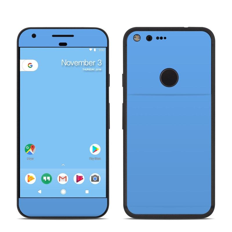 Google Pixel Skin design of Sky, Blue, Daytime, Aqua, Cobalt blue, Atmosphere, Azure, Turquoise, Electric blue, Calm with blue colors