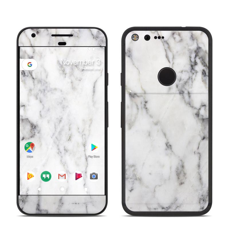 White Marble Google Pixel Skin