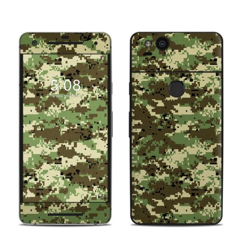 Digital Woodland Camo Google Pixel 2 Skin