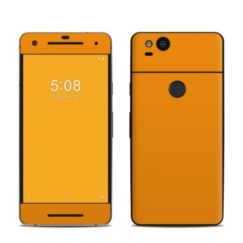 Solid State Orange Google Pixel 2 Skin