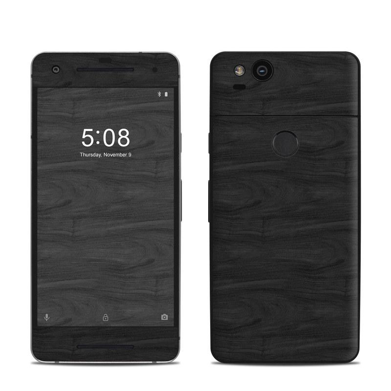 Google Pixel 2 Skin design of Black, Brown, Wood, Grey, Flooring, Floor, Laminate flooring, Wood flooring with black colors