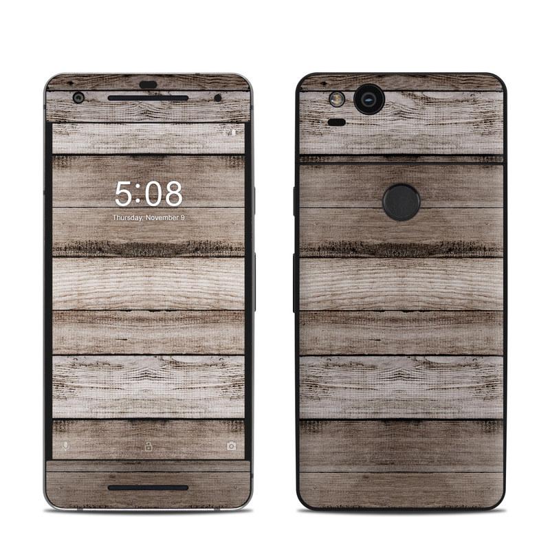 Google Pixel 2 Skin design of Wood, Plank, Wood stain, Hardwood, Line, Pattern, Floor, Lumber, Wood flooring, Plywood with brown, black colors