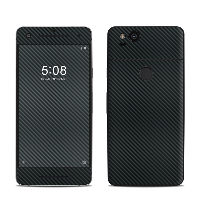 Google Pixel 2 Skin design of Green, Black, Blue, Pattern, Turquoise, Carbon, Textile, Metal, Mesh, Woven fabric with black colors