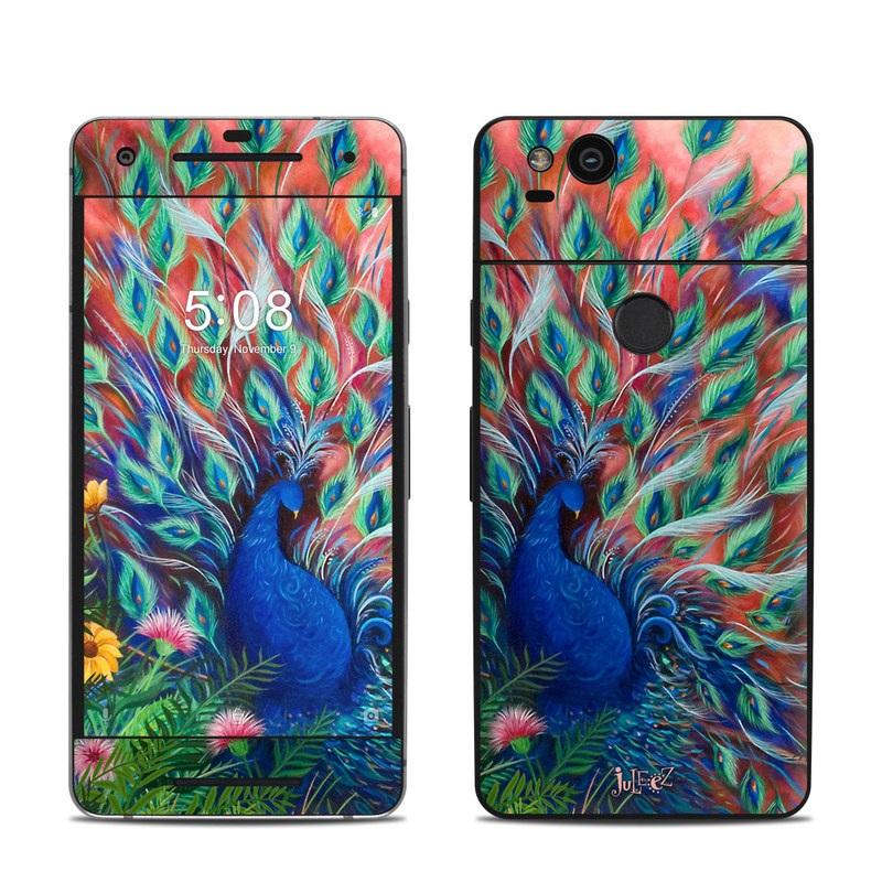 Coral Peacock Google Pixel 2 Skin
