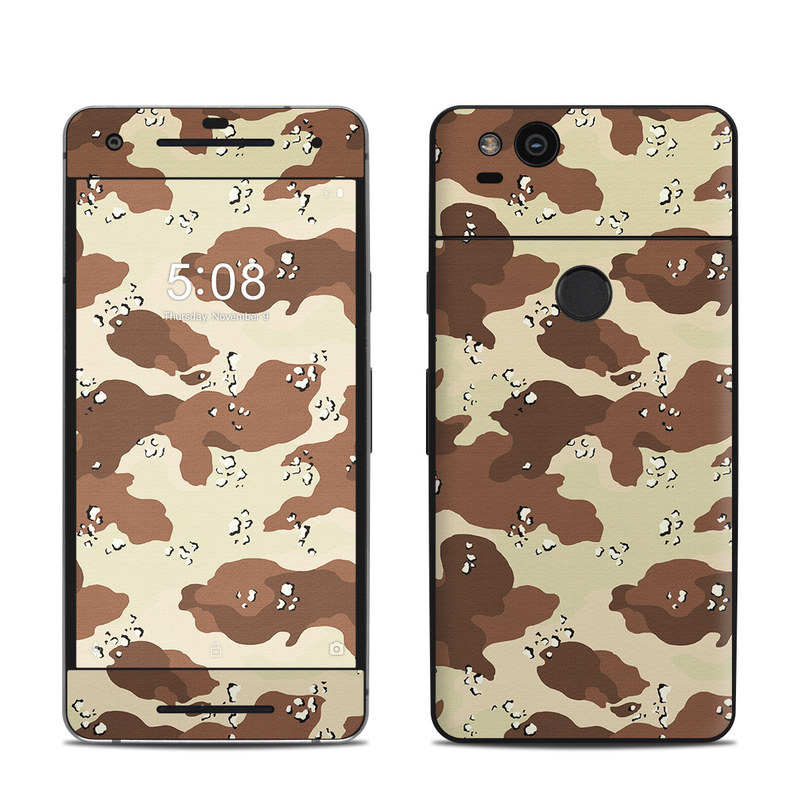 Google Pixel 2 Skin design of Military camouflage, Brown, Pattern, Design, Camouflage, Textile, Beige, Illustration, Uniform, Metal with gray, red, black, green colors